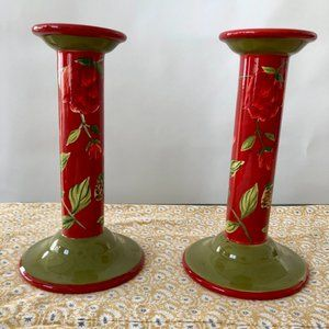 """Royal Doulton, 9"""" Holiday Candle Holders"""